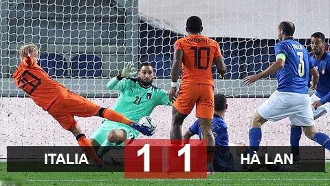 Kết quả Italia 1-1 Hà Lan: Vắng Koeman, Oranje vẫn chưa nổi lốc
