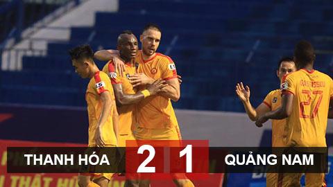 Kết quả Thanh Hoá 2-1 Quảng Nam FC: Chủ nhà sớm trụ hạng trước 3 vòng đấu