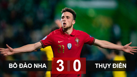 Bồ Đào Nha 3-0 Thụy Điển: Jota tỏa sáng rực rỡ, Bồ Đào Nha đại thắng ngày vắng Ronaldo