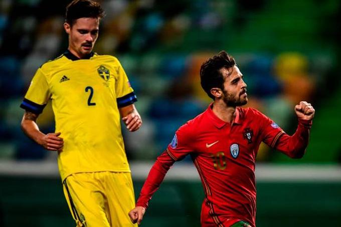 Bernardo mở tỷ số cho Bồ Đào Nha ở phút 21
