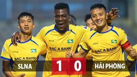 SLNA 1-0 Hải Phòng: Thắng phút bù giờ, SLNA trụ hạng sớm 3 vòng đấu