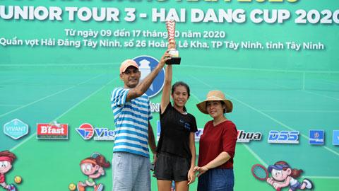 """""""Đóa hồng lai"""" Khalil Bảo Châu Saleema vô địch U10 giải VTF Junior Tour 3 năm 2020"""