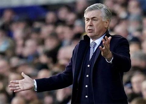 Ancelotti đang có cơ hội tốt để thắng derby Merseyside khi Everton đạt phong độ cao