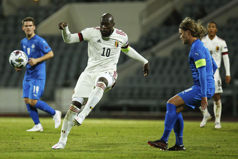 Lukaku là tác giả cú đúp bàn thắng giúp Bỉ hạ Iceland 2-1 rạng sáng qua