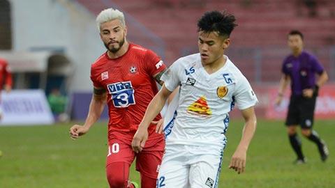 Cuộc đua trụ hạng V.League chỉ còn là chuyện của Quảng Nam và Hải Phòng?