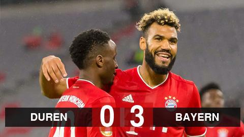 FC Duren 0-3 Bayern: Tân binh Choupo-Moting lập cú đúp, Bayern dễ dàng chiến thắng