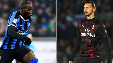 Inter vs AC Milan: Lukaku gặp lại 'sư phụ' Ibrahimovic