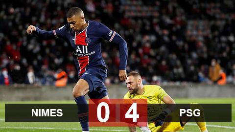Kết quả Nimes 0-4 PSG: Mbappe lập cú đúp đưa PSG lên đầu bảng Ligue 1