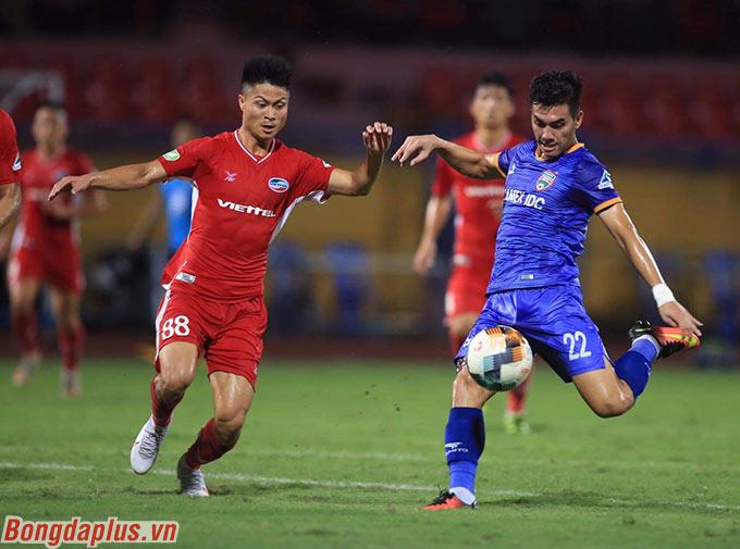 B.BD không phải là đối thủ dễ chơi với Viettel - Ảnh: Phan Tùng