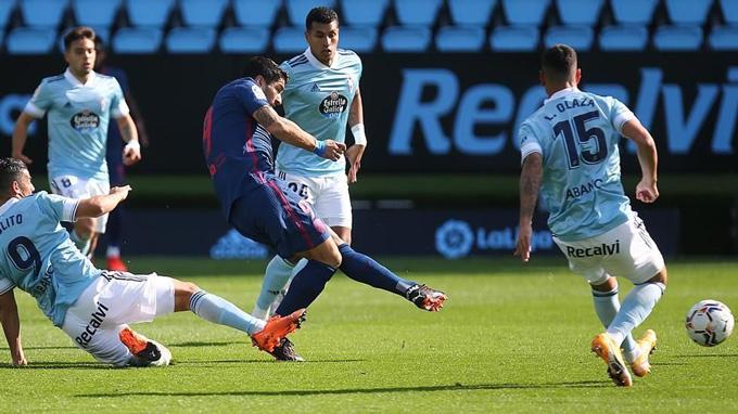Suarez mở tỷ số cho Atletico ngay từ phút thứ 6