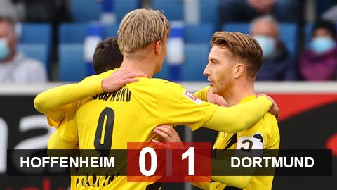 Kết quả Hoffenheim 0-1 Dortmund: Reus cứu rỗi Dortmund