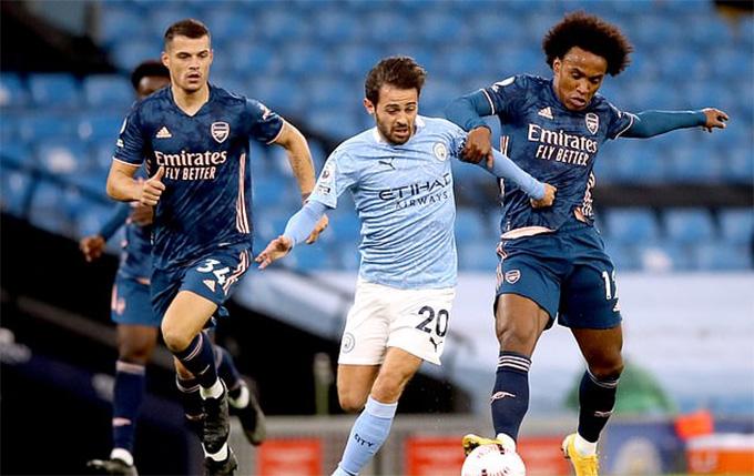 Bernardo Silva chơi rất ấn tượng trước Arsenal