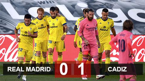 Kết quả Real Madrid 0-1 Cadiz: Địa chấn tại Alfredo Di Stefano