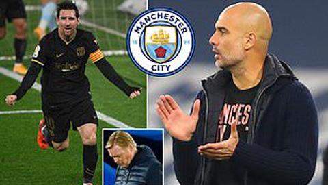 Barca sẵn sàng để Messi tới Man City vào Hè tới