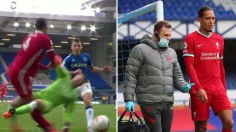 Van Dijk có thể phải nghỉ hết mùa giải vì chấn thương ở derby Merseyside