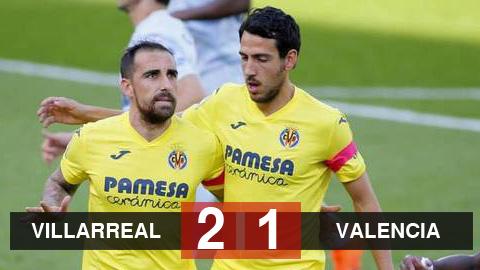 Villarreal 2-1 Valencia: Alcacer ghi bàn đưa Villarreal lên đầu bảng