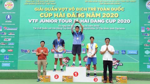 VTF Junior Tour 3 năm 2020: Cứu nguy ba match-point, Vũ Hà Minh Đức vô địch U18