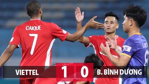 Kết quả Viettel 1-0 B.BD: Viettel giữ vững ngôi đầu