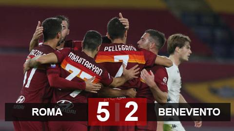Kết quả Roma 5-2 Benevento: Dzeko, Pedro tỏa sáng giúp Roma ngược dòng mãn nhãn