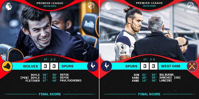 Sau 9 năm, Bale lại đem tới vận đen cho Tottenham