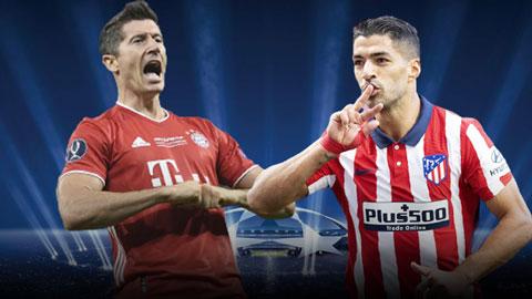 Bayern vs Atletico: ''Pháo cao xạ'' Lewandowski đọ tài ''Pháo phản lực'' Suarez