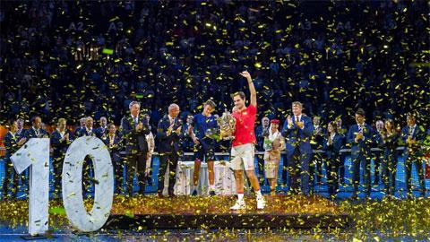 Federer - Kỷ lục 10 lần vô địch Basel & kế hoạch 8 năm đổ bể