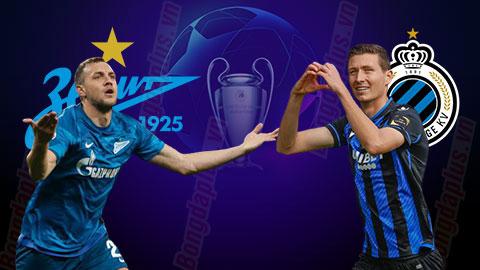 Nhận định bóng đá Zenit vs Club Brugge, 23h55 ngày 20/10: Quyết thắng trận đầu