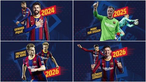 Barca 'trói chân' 4 trụ cột với tổng giá trị phá vỡ hợp đồng 1,7 tỷ euro