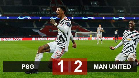 Kết quả PSG 1-2 Man United: Bruno & Rashford giúp Quỷ đỏ tái lập địa chấn ở Paris