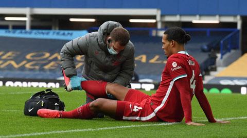 Nhiều cầu thủ Liverpool sốc khi chứng kiến Van Dijk chấn thương