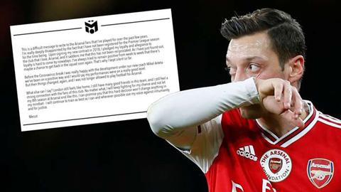 Oezil gửi đi thông điệp sau khi bị Arsenal cho làm người thừa