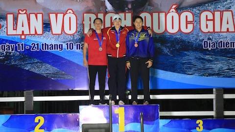 Giành 14 HCV, Ánh Viên giúp đoàn Quân đội dẫn đầu giải bơi VĐQG 2020