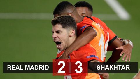 Kết quả Real 2-3 Shakhtar Donetsk: Đại địa chấn ở Madrid