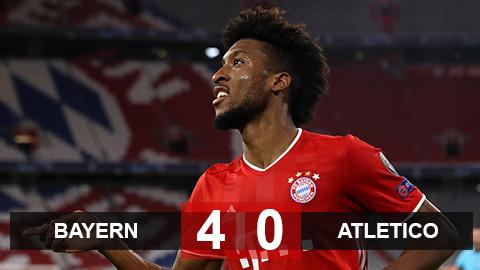 "Bayern 4-0 Atletico: Coman ""lên đồng"", Hùm xám ""ăn sống"" Atletico"