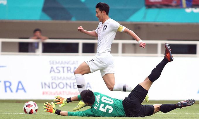 Son Heung Min không thể ghi bàn vào lưới U23 Việt Nam