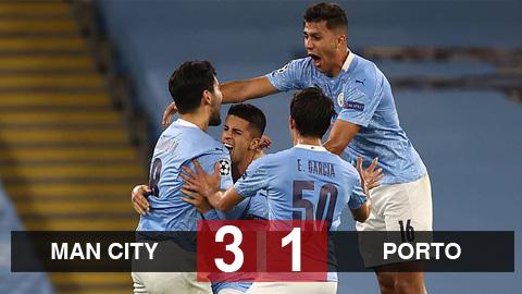 Man City 3-1 Porto: Aguero nổ súng, Man City ngược dòng giành 3 điểm