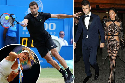 "Sau Sharapova, Dimitrov tiếp tục ""lái máy bay"" hơn 13 tuổi Scherzinger"