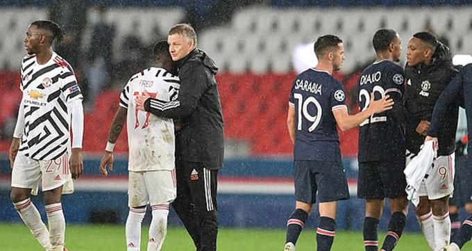 Solskjaer đã giúp M.U có chiến thắng ấn tượng 2-1 ngay trên sân của PSG