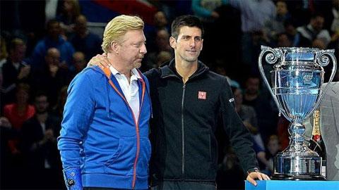 Boris Becker chính là người đã giúp Djokovic hoàn thành giấc mơ Career Grand Slam