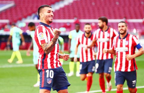 Correa cùng các đồng đội tại Atletico đã sẵn sàng giành chiến thắng trở lại