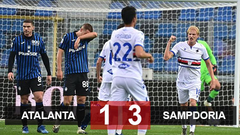 Kết quả Atalanta 1-3 Sampdoria:  Thua đau Sampdoria, Atalanta nguy cơ rơi khỏi top 4