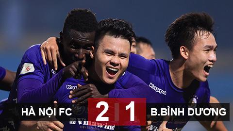 Kết quả Hà Nội 2-1 B.Bình Dương: Hà Nội lên đầu bảng V.League