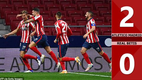 Atletico Madrid 2 -0 Real Betis (Vòng 7 La Liga 2020/21)