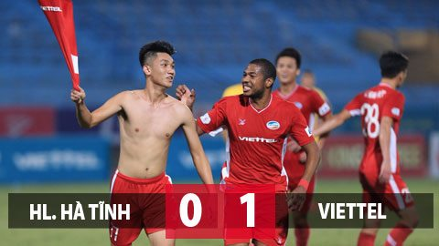 Kết quả Hồng Lĩnh Hà Tĩnh 0-1 Viettel: 'Cực phẩm' của Trọng Đại đưa Viettel trở lại ngôi đầu