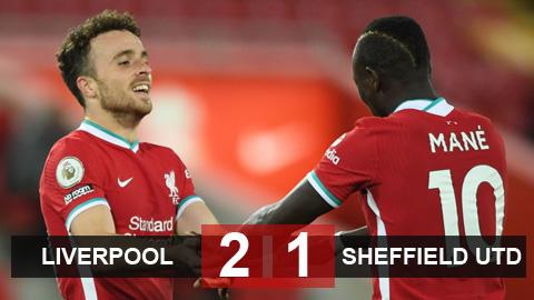 Kết quả Liverpool 2-1 Sheffield United: Chiến thắng nhọc nhằn