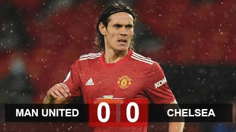 Kết quả M.U 0-0 Chelsea: Cavani lần đầu xuất trận nhưng không thể giúp M.U có 3 điểm