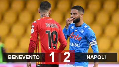 Kết quả Benevento 1-2 Napoli: Anh em nhà Insigne cùng ghi bàn, Napoli lên thứ 2 Serie A
