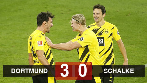Kết quả Dortmund 3-0 Schalke: Chủ nhà bắt kịp Bayern