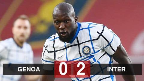 Kết quả Genoa 0-2 Inter: Lukaku đưa Inter vào top 3