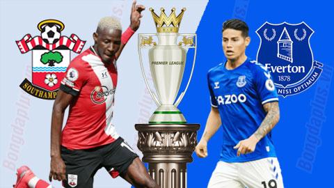Trực tiếp Southampton vs Everton, 21h00 ngày 25/10